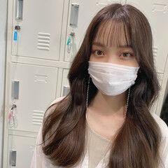 オルチャン チョコレート 韓国ヘア ミルクティーベージュ ヘアスタイルや髪型の写真・画像