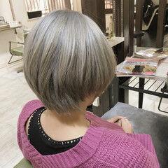 ショート ブロンドカラー 外国人風カラー モード ヘアスタイルや髪型の写真・画像