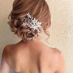 成人式ヘア 結婚式 ナチュラル 簡単ヘアアレンジ ヘアスタイルや髪型の写真・画像