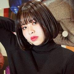 ボブ PEEK-A-BOO 阿藤俊也 ワンレングス ヘアスタイルや髪型の写真・画像
