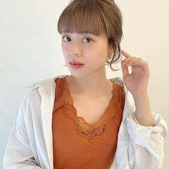 ヘアアレンジ ブリーチ必須 ボブ 簡単ヘアアレンジ ヘアスタイルや髪型の写真・画像