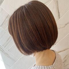 ボブ ナチュラル ショートヘア 20代 ヘアスタイルや髪型の写真・画像