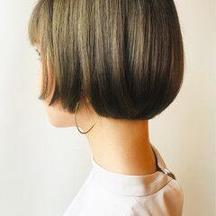 面長 大人かわいい モード ボブ ヘアスタイルや髪型の写真・画像