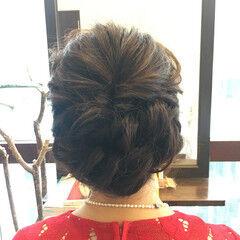 ロング フェミニン ヘアアレンジ 後れ毛 ヘアスタイルや髪型の写真・画像