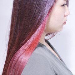 ラベンダーピンク パープル ベリーピンク ラベンダー ヘアスタイルや髪型の写真・画像