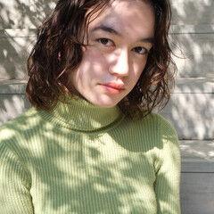 ナチュラル ミディアム 外国人風 外国人風パーマ ヘアスタイルや髪型の写真・画像