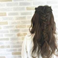 ヘアアレンジ 編み込み ルーズ アンニュイ ヘアスタイルや髪型の写真・画像