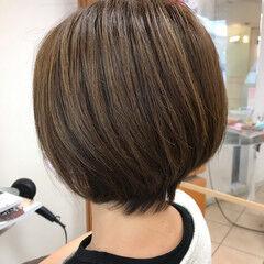 ショートヘア 大人ハイライト 大人カラー ショート ヘアスタイルや髪型の写真・画像