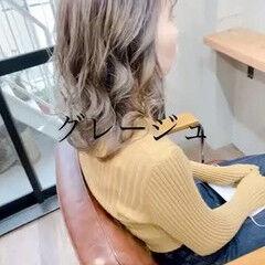 ミントアッシュ アッシュグレー アッシュベージュ ラベンダーアッシュ ヘアスタイルや髪型の写真・画像