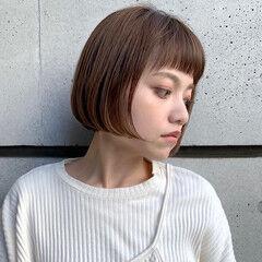 ミニボブ 艶カラー ラベンダーアッシュ お手入れ簡単!! ヘアスタイルや髪型の写真・画像