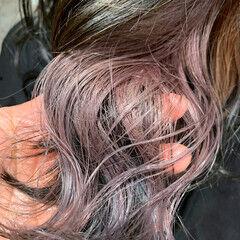 ミディアム インナーカラー エレガント ヘアスタイルや髪型の写真・画像