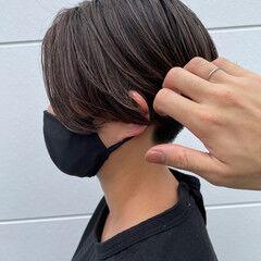 ベリーショート 大人ハイライト ショート エレガント ヘアスタイルや髪型の写真・画像