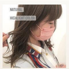 インナーカラー N.オイル ニュアンスヘア ナチュラル ヘアスタイルや髪型の写真・画像