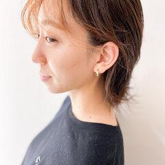 ショート ナチュラル ハイライト うぶ毛ハイライト ヘアスタイルや髪型の写真・画像