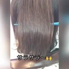 髪質改善トリートメント 縮毛矯正 髪質改善 ツヤ髪 ヘアスタイルや髪型の写真・画像