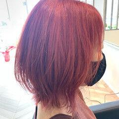 ピンクバイオレット ガーリー ピンク 大人可愛い ヘアスタイルや髪型の写真・画像