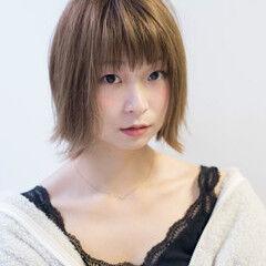 ショート ナチュラル 小顔ヘア ショートボブ ヘアスタイルや髪型の写真・画像