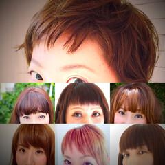 ミディアム  モード 前髪あり ヘアスタイルや髪型の写真・画像