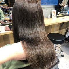 髪質改善トリートメント オリーブグレージュ ナチュラル トリートメント ヘアスタイルや髪型の写真・画像