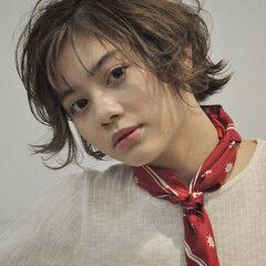 小顔ショート ショート マッシュウルフ ウルフカット ヘアスタイルや髪型の写真・画像