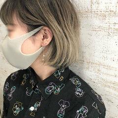 ホワイトベージュ グラデーションカラー ダメージレス ガーリー ヘアスタイルや髪型の写真・画像