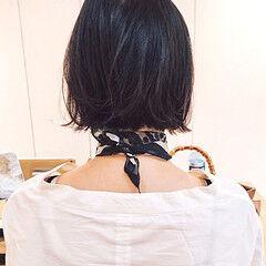 ミニボブ 黒髪ショート ボブ ショートボブ ヘアスタイルや髪型の写真・画像