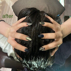 ナチュラル ヘアケア 頭皮ケア リラクシー ヘアスタイルや髪型の写真・画像