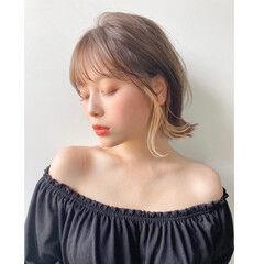 アンニュイほつれヘア ボブ 透明感カラー 簡単ヘアアレンジ ヘアスタイルや髪型の写真・画像