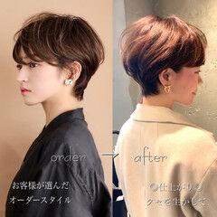 田丸麻紀 北川景子 フェミニン ショートヘア ヘアスタイルや髪型の写真・画像