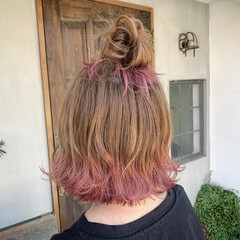 ヘアアレンジ ミニボブ ナチュラル ボブ ヘアスタイルや髪型の写真・画像