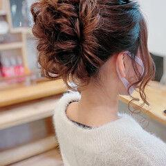 ミディアム フェミニン ロープ編み 簡単ヘアアレンジ ヘアスタイルや髪型の写真・画像