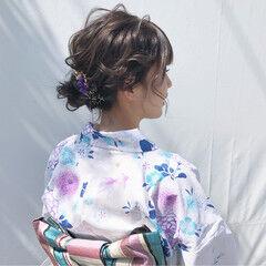 夏 ナチュラル ヘアアレンジ デート ヘアスタイルや髪型の写真・画像