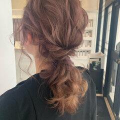 かわいい セミロング エレガント ナチュラル可愛い ヘアスタイルや髪型の写真・画像