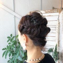 結婚式 ヘアアレンジ ストリート ロープ編み ヘアスタイルや髪型の写真・画像
