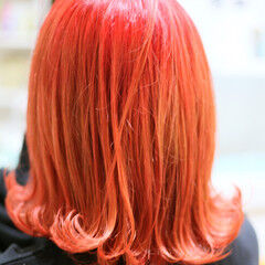 ピンク ガーリー ミディアム ハイトーン ヘアスタイルや髪型の写真・画像