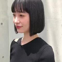 ミニボブ 地毛ハイライト ボブ 透明感 ヘアスタイルや髪型の写真・画像