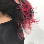 韓国ヘア ロング ピンク 裾カラー