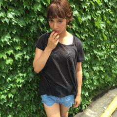 渋谷系 ショート ストリート ミディアム ヘアスタイルや髪型の写真・画像