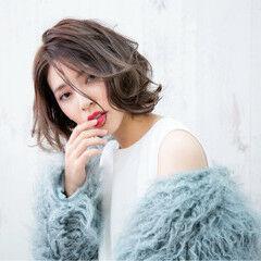 フェミニン 秋 ボブ 冬 ヘアスタイルや髪型の写真・画像