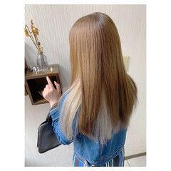 大人女子 ダブルカラー 透明感カラー デート ヘアスタイルや髪型の写真・画像
