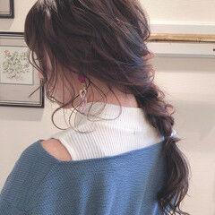 ヘアアレンジ 編みおろし アンニュイほつれヘア 外国人風 ヘアスタイルや髪型の写真・画像