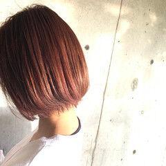 コリアンピンク ストリート スポーツ ボブ ヘアスタイルや髪型の写真・画像