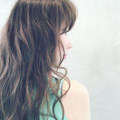 デジタルパーマ ゆるふわ 外国人風 ガーリー ヘアスタイルや髪型の写真・画像