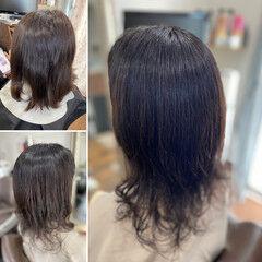 デジタルパーマ ヘナカラー 髪質改善トリートメント 髪質改善カラー ヘアスタイルや髪型の写真・画像