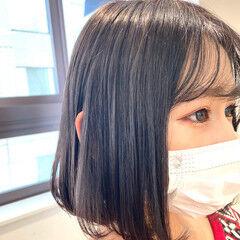 韓国風ヘアー ショートボブ ボブヘアー 韓国 ヘアスタイルや髪型の写真・画像