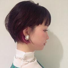 前髪パッツン デート フェミニン まとまり ヘアスタイルや髪型の写真・画像