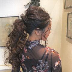 外国人風 結婚式 エレガント ポニーテール ヘアスタイルや髪型の写真・画像