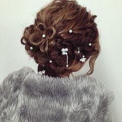 ゆるふわ 大人かわいい パールアクセ ロング ヘアスタイルや髪型の写真・画像