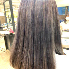 ミディアム ラベンダーピンク ラベンダーアッシュ ラベンダーカラー ヘアスタイルや髪型の写真・画像