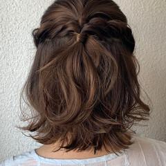 ヘアアレンジ 切りっぱなしボブ ナチュラル可愛い ボブ ヘアスタイルや髪型の写真・画像